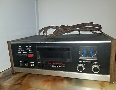8 Track player Lafayette RM-885 Stereo 8 Track Recorder / Player Vintage