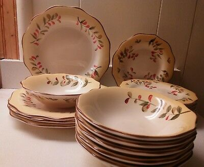 Better Homes and Gardens Tuscan Retreat 16 Pce. Set Dinner, Salad Plates, Bowls