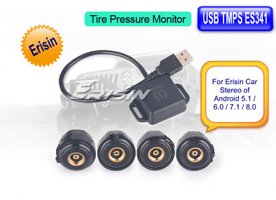 Erisin ES341GD TPMS Reifendruck Module 4 Sensor USB Monitor Android 8.0 7.1 6.0