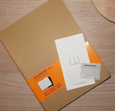 Moleskine Cahier Notebook Ruled Extra Large Journal Beige