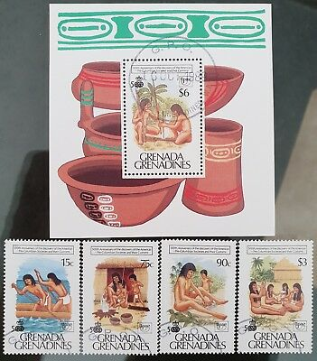 Grenada Grenadines 1986 Sc # 1120 to Sc # 1124 Mini Sheet Mint CTO Stamps