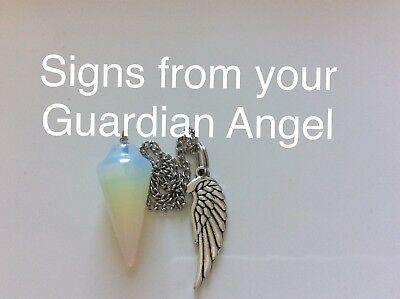 Code 288 Signs from your Guardian Angel Opalite infused n charged pendulum Wing