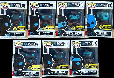 Funko POP! DC Super Heroes Glow in the Dark Entertainment Earth Exclusive