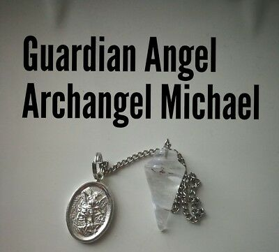 Code 228 Guard Angel n Archangel Michael clear quartz Infused n charged Pendulum