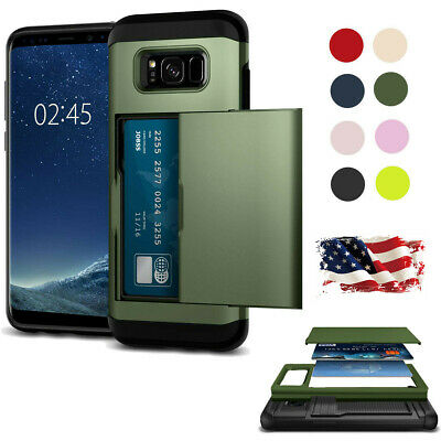 Shockproof Wallet Case For Samsung Galaxy S6 Luxury Card Slot Phone Cover US