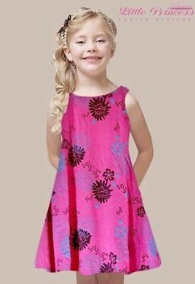 Childrens UK Girls kids LITTLE PRINCESS Pretty in floral dress Age 2 to 10