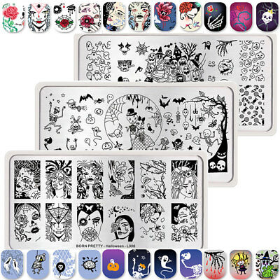 Halloween Series Nail Art Pochoir Stamping Template Plaque Ongle BORN PRETTY