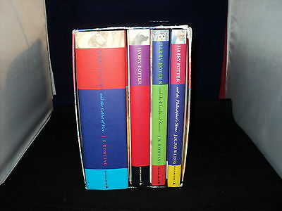 Harry Potter Box Set Complete Set Of 4 Hardback Bloomsbury Boxed No Dust Covers
