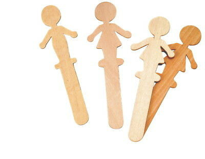 Chenille Kraft Wood People Craft Stick, 6 in, Pack of 36