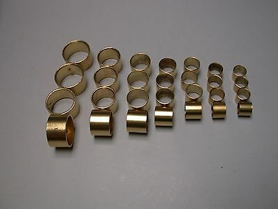 28 x Brass Ferrule, for Chisel Handle, Made in Sheffield, Good Quality