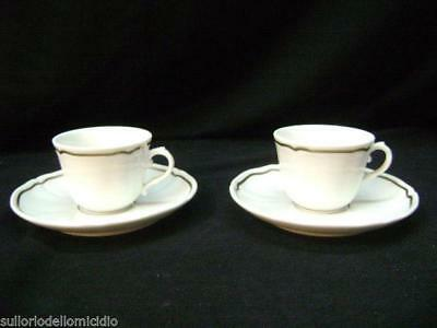 Pair of cups coffee' period richard ginori nuove vintage modern antiques