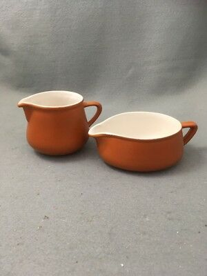 Honiton Pottery Jugs X 2 Retro Burnt Orange