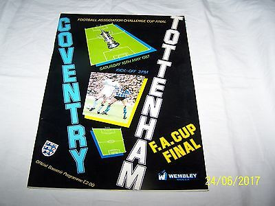 Coventry v Tottenham FA Cup Final 16th May 1987 Official Souvenir Programme £2.