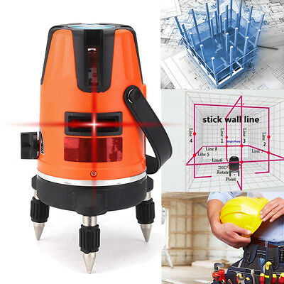 Rotary Red Laser Level 5 Line 6 Point Automatic Self Leveling Tile Measure Tool