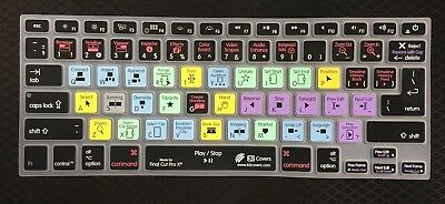 Final Cut Pro X Keyboard Cover for older MacBookPro keyboard models