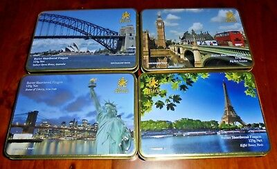 4 Mac's Biscuit Tins~ Statue of Liberty-Eiffel Tower-Sydney Opera House-Big Ben