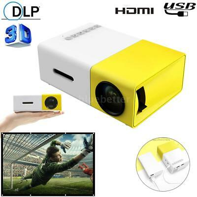 YG300 Mini Portable Multimedia LED Projector Full HD 1080P Home Theater USB B7U6