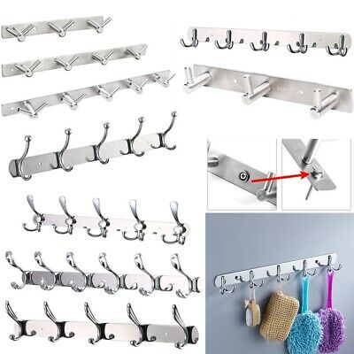 High Quality Stainless Steel Hooks Clothes Door Holder Rack Wall Mounted Hanger