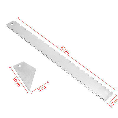 Guitar Neck Notched Aluminum Straight Edge W/ Fret Rocker Luthier Musical Tools