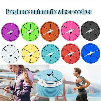 Circle Silicone Cable Cord Organizer Wrap Wire Winder Earphone Headphone Holder
