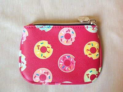 Dabney Lee Pink And Donuts Coin Purse With Zipper