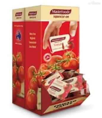 Masterfoods Tomato Sauce Portion Control Squeeze 14 Gram Box of 100 BB 03/2019