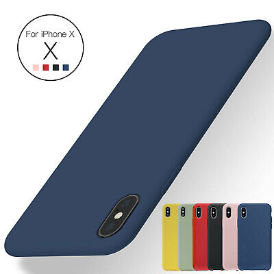 For iPhone X 7 8 Plus Luxury Shockproof Silicone Case Soft Slim Rubber Gel Cover