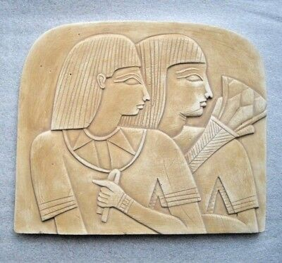 Egyptian Queen Cleopatra Stela Wall Fragment Relief Stone Sculpture Plaque EGYPT