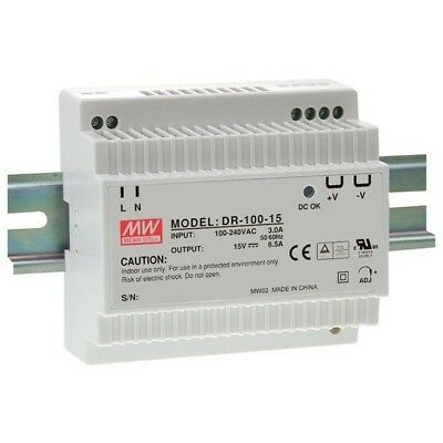 Mean Well DR-100-12 12V / 90W Step Shape Din Rail PSU