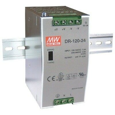 Mean Well DR-120-12 12V / 120W Single output Din Rail PSU