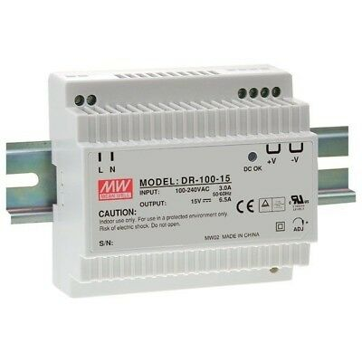 Mean Well DR-100-24 24V / 100.8W Step Shape Din Rail PSU