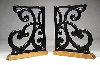 Vintage Style Cast Iron Bracket Garden Braces Rustic Shelf Bracket Black
