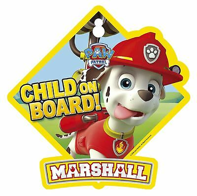 Paw Patrol Marshall 'Child on Board!' Car Window Sign Yellow Baby on board sign