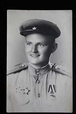 Real WW2 USSR Russian Soviet photo - Soviet officer with 3 orders