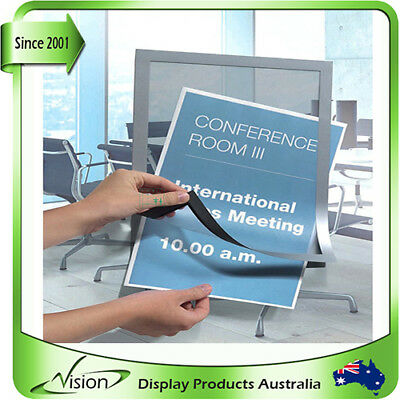window glass door posterfix magnetic self cling sticker A3/ A4 real estate agent