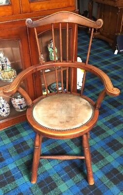 A Victorian Tall Back Captains Chair