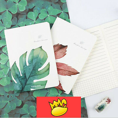 """One Leaf"" Exercise Book A6 Pack of 4 Lined Notebook Pocket Journal Planner"