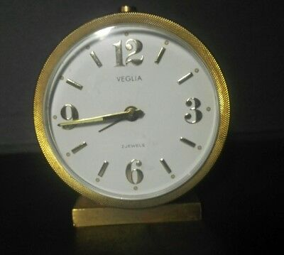 Sveglia marca VEGLIA anni 50 made in Germany, funzionante. Working alarm clock.