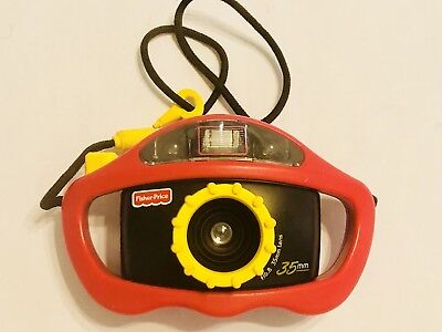 Fisher Price Perfect Shot 35 mm Kids Camera 1997 Red & Yellow w/strap