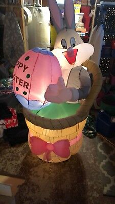 Looney Tunes Gemmy Bugs bunny Easter prototype airblown inflatable