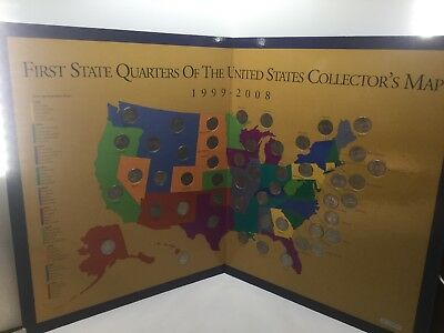 1999-2008 First State Quarters of the US Collector's Map - Complete IN BOX