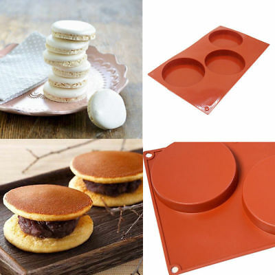3-Cavity Silicone Cake Pie Custard Tart Resin Mold Bakeware Coaster Tray Mould