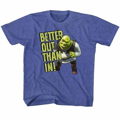 Shrek Toddler T-Shirt Better Out Than In Royal Heather Tee