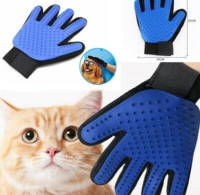Pet Hair Brush Dog Cat Bath Fur Cleaning Glove Grooming Washing Clean Massage