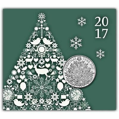 The Christmas Tree 2017 UK 5 Brilliant Uncirculated Coin