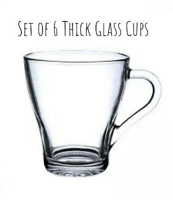 Six 230ml Glass Cup,coffee Cup,tea Cup Hot & Cold