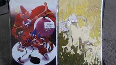 2 REGULAR SHOW #1 VIRGIN ART VARIANT COVERS - 1/15 Extremely rare!