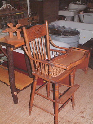 vintage child s solid oak student style chair no arms and straight