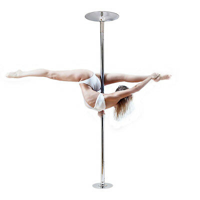 NEW Portable Stainless Steel Dance Pole Spinning Static Dancing Fitness 45mm