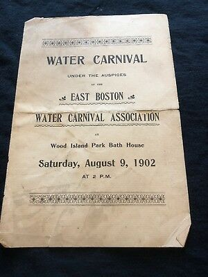 Water Carnival - East Boston Carnival Association: Aug. 9, 1902